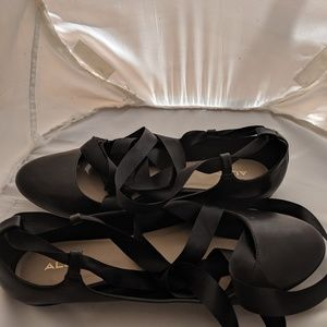 Aldo Lace Up Ballet Flats Size 11